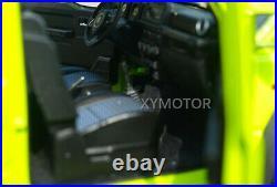 1/18 LCD Suzuki Jimny Sierra SUV Diecast Model Car Gift Collection Lemon Yellow