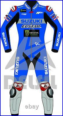 Alex Rins Suzuki Motorbike Rider's Leather Racing Suit Model MotoGP 2021