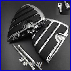 Chrome Rear Wing Foot Pegs Rest fit For 2003-2008 Honda VXT 1300 1800 All Models