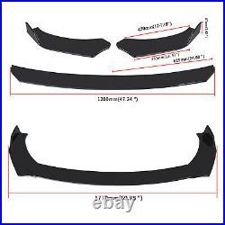 For 2017-2021 Tesla Model 3 Sedan Glossy Black Front Bumper Body Kit Lip 3Pcs