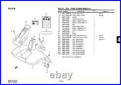 Genuine Suzuki LT50 Model K1 ATV Front Fender Front Fender 53111-04201-25Y