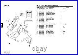 Genuine Suzuki LT50 Model K2 ATV Front Fender Front Fender 53111-04201-25Y