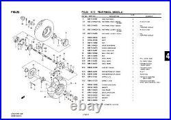 Genuine Suzuki LT50 Model L ATV Rear Wheel Rear Hub Panel 64210-04601-000