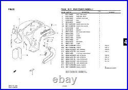 Genuine Suzuki LT50 Model L Mini ATV Quad Rear Fender Chain Case 61311-04600-000