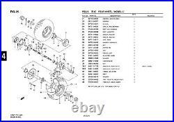 Genuine Suzuki LT50 Model L Mini ATV Quad Rear Wheel Cap Holder 64726-04200-000