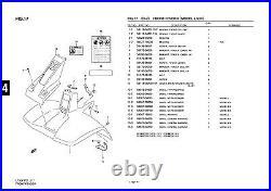 Genuine Suzuki LT50 Model L, X, Y ATV Front Fender Front Fender 53111-04201-25Y