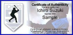 Ichiro Suzuki Autographed Black Mizuno Game Model Bat 01 Roy/mvp Is Holo 189810