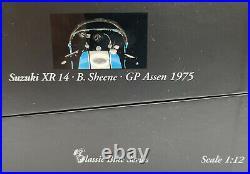 MINICHAMPS 122 750006 SUZUKI XR14 model bike Barry Sheene GP Assen 1975 112th
