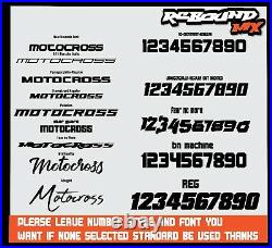 Rebound Graphics Kit to fit Suzuki RM RMZ 85 125 250 450 models all years 009