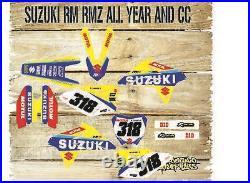 Rebound Graphics Kit to fit Suzuki RM RMZ 85 125 250 450 models all years facto