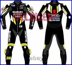 SUZUKI ECSTAR Motorbike Rider's Leather Racing Suit Model MotoGP 2019