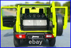 SUZUKI JIMNY 2019 Metal Diecast Car Model 118 Scale Boys Gifts Lime yellow
