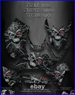 Suzuki Ltr450r 450 Quadracer Atv Graphics Machinehead Black Model Skull