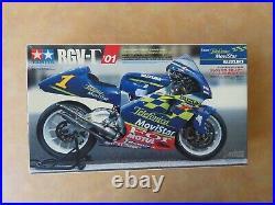 Tamiya Suzuki Telefonica RGV-R'01 Motorcycle Model Kit (Started) 112 Scale