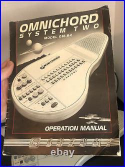 Vintage Suzuki Omnichord Omni Chord System Two Model OM84 WithCase & AC Cord WORKS