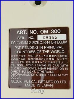 Vintage Suzuki Omnichord System Model OM-300 with AC Adapter. Excellent